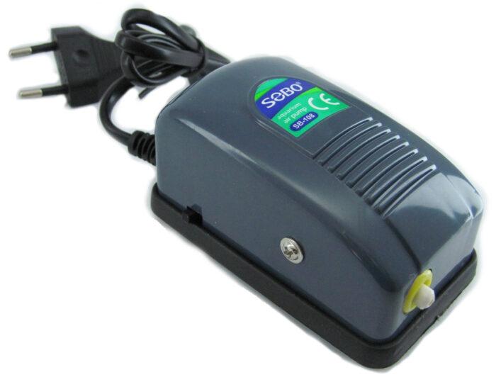 Двухканальный компрессор для аквариума